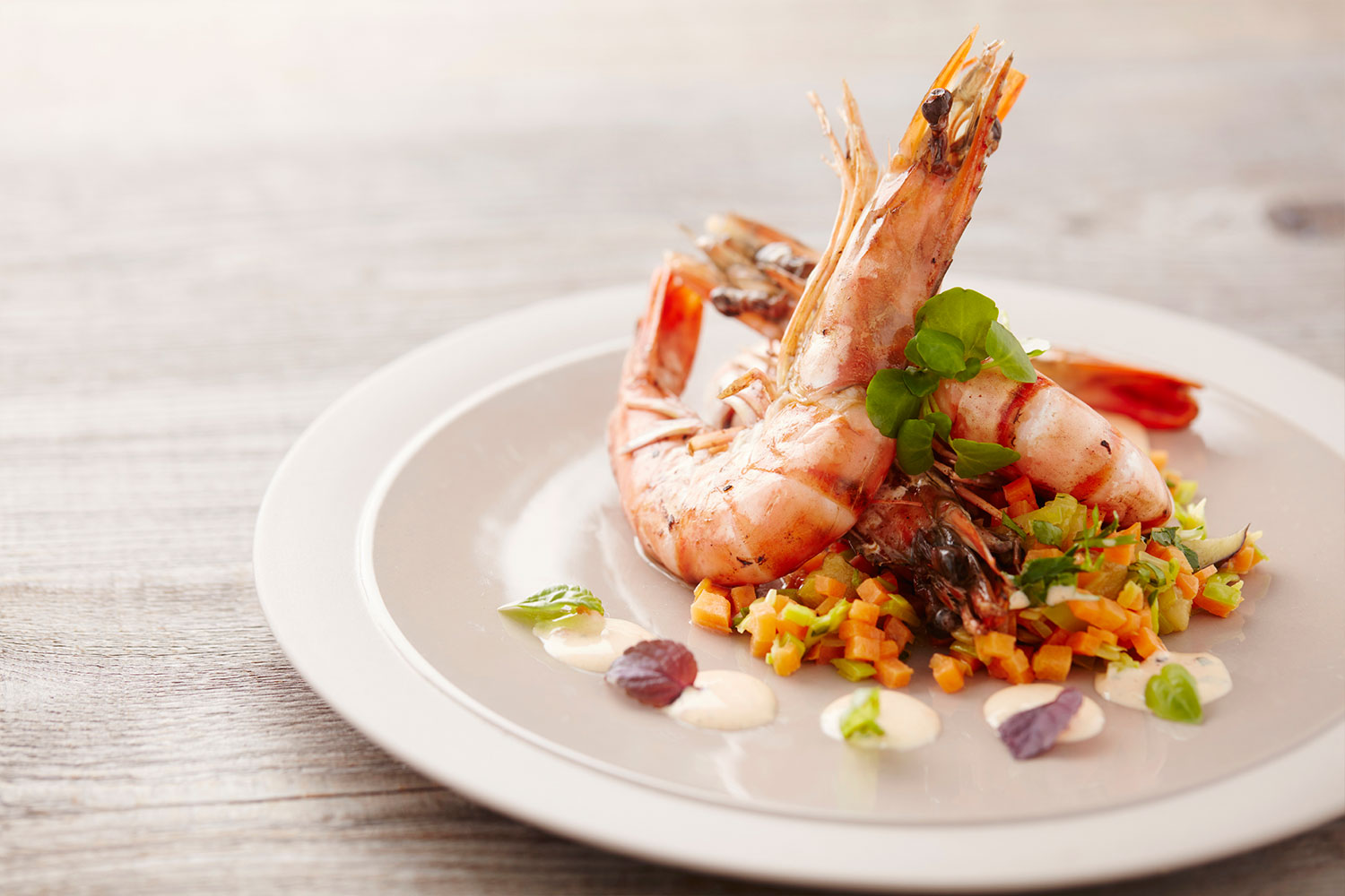 Prawns with Choron sauce
